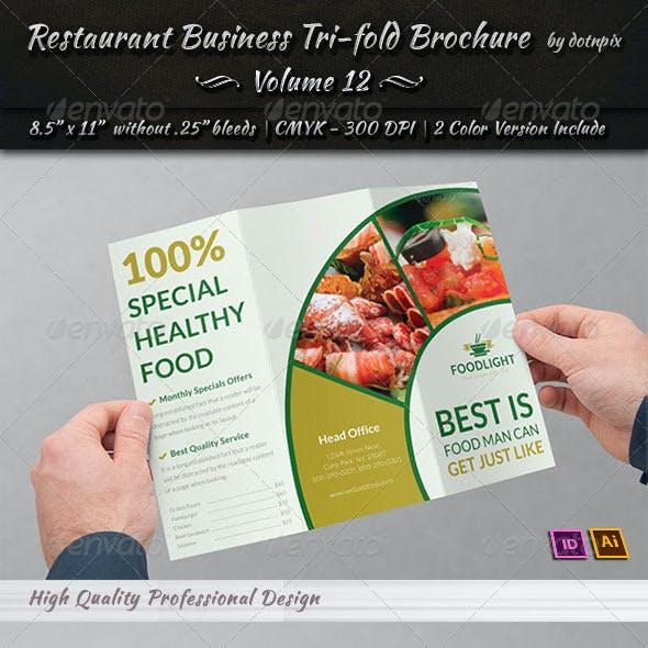 Restaurant Business Tri-Fold Brochure | Volume 12