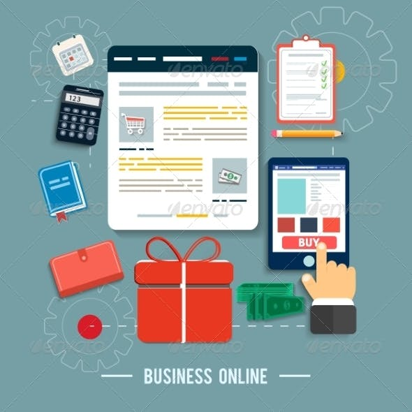 Business Online Concept