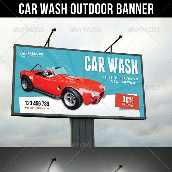 Car Wash Outdoor Banner 03