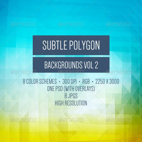Subtle Polygon Backgrounds - Vol. 2