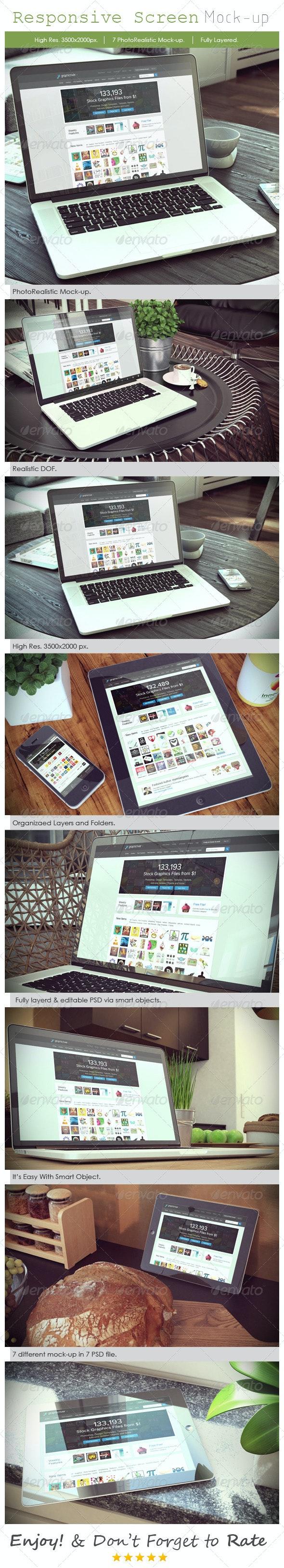 Responsive Device Mockup V3 - Displays Product Mock-Ups