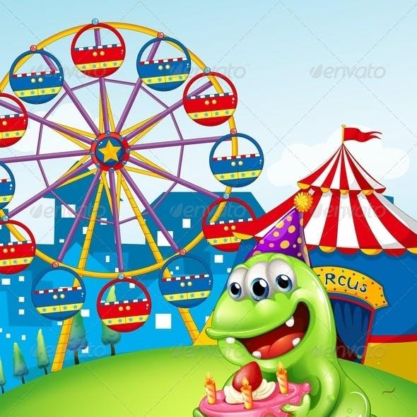 Monster Celebrating Birthday at Carnival