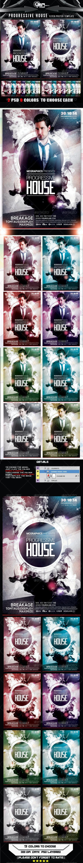 Progressive House Flyer/Poster Template - Print Templates