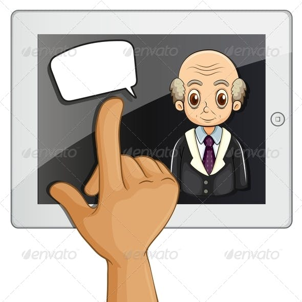 Touch Pad and Speech Bubble