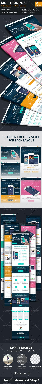 Mobile Apps Multipurpose E-newsletter Template