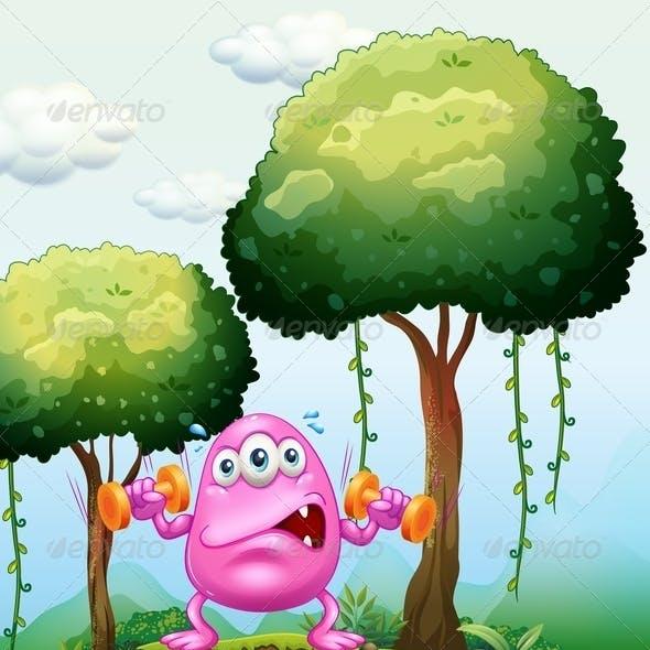 Monster Exercising in Forest