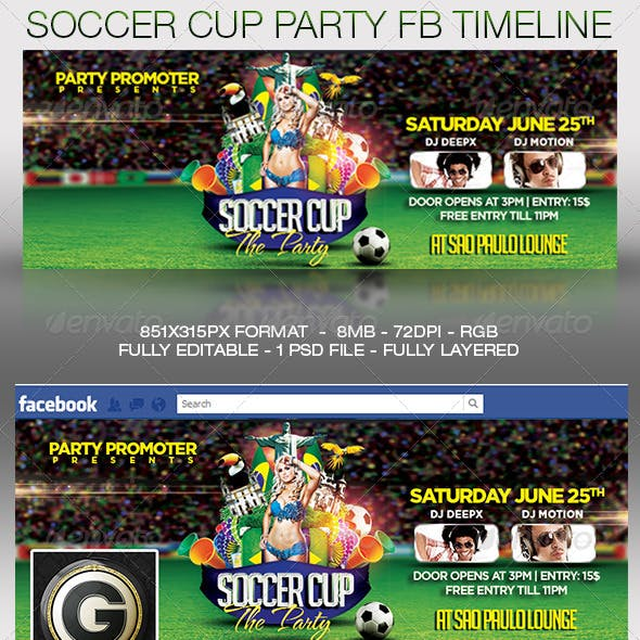 Soccer After Party on Facebook Timeline Cover
