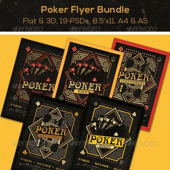 BUNDLE Poker Magazine Ad, Poster or Flyer 19 PSDs