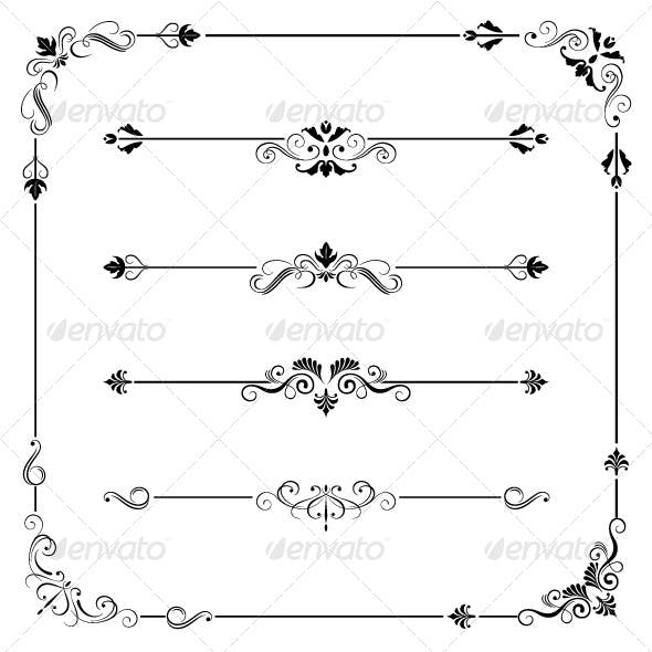 Vintage Frame Border Dividers and Corners