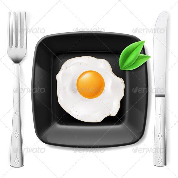 Served Fried Egg