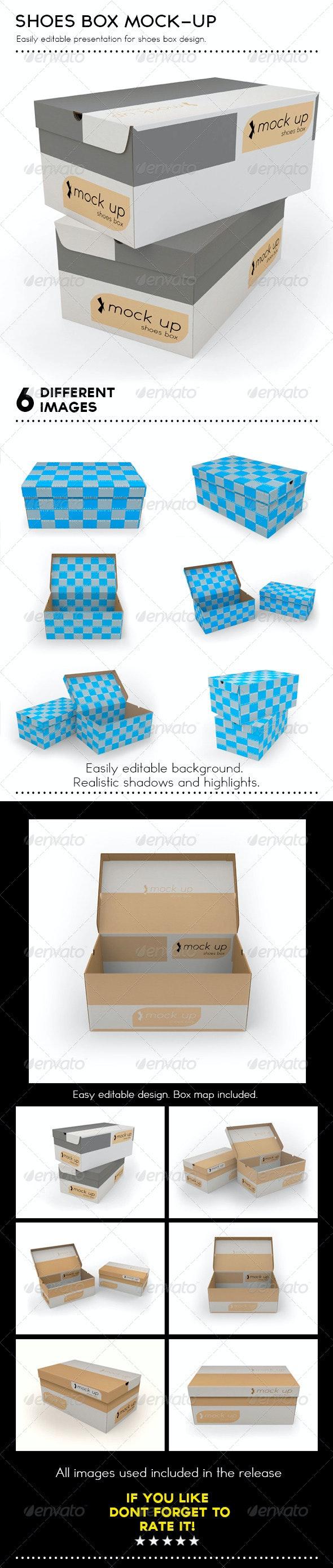 Shoes Box Mockup - Packaging Product Mock-Ups