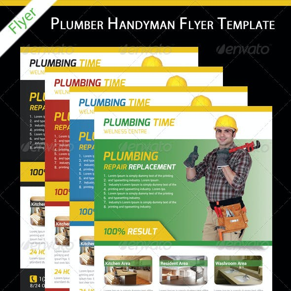 Plumbers Service Flyer Template