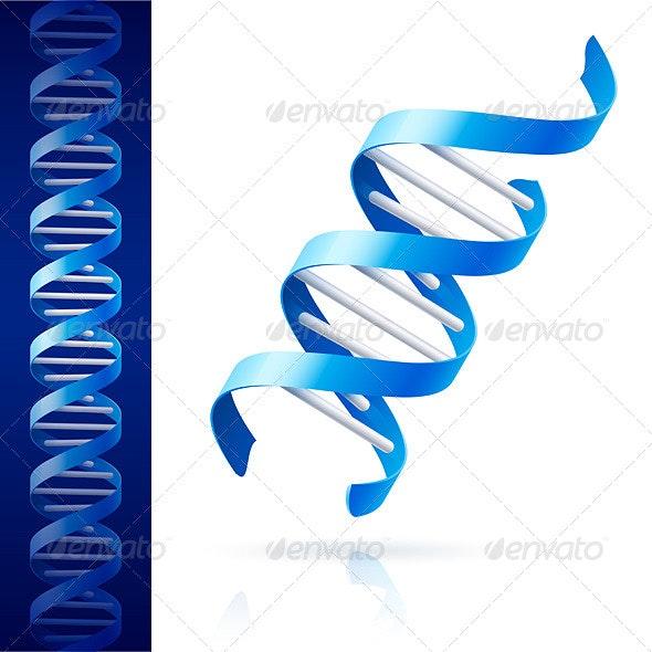 Blue DNA - Health/Medicine Conceptual