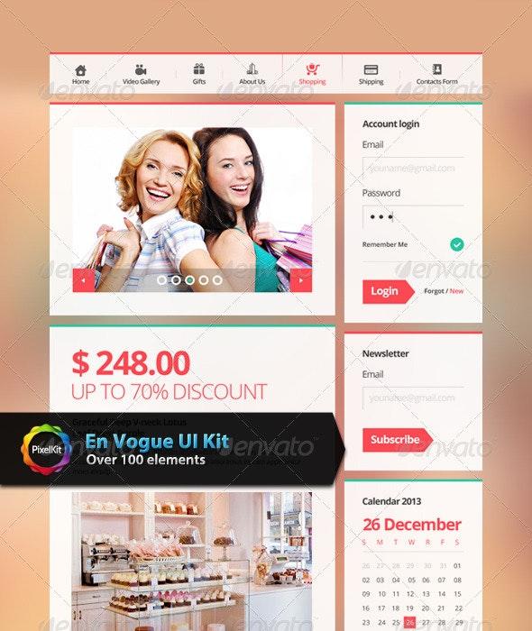 En Vogue UI Kit - User Interfaces Web Elements