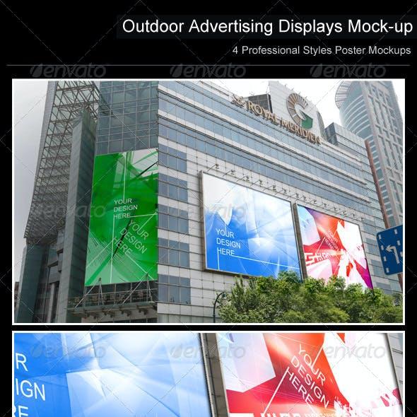Outdoor Advertising Displays Mock-up