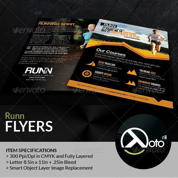 Runn Marathon Running Club Fitness Flyers