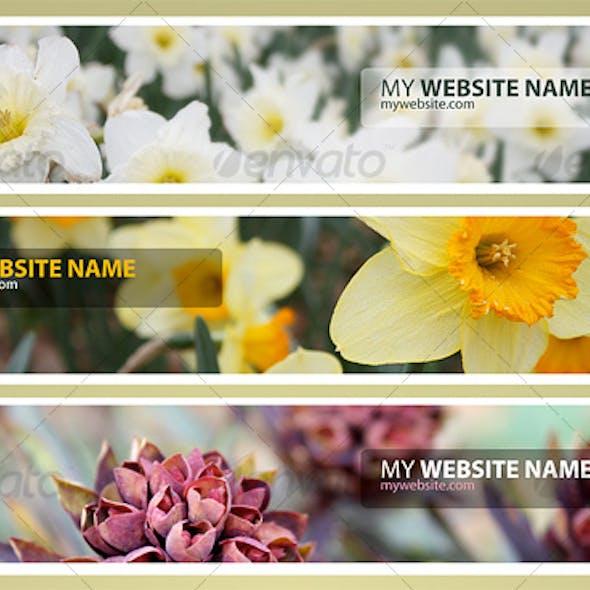 Web Headers Flower Pack