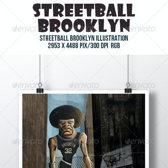 Streetball Brooklyn Illustration