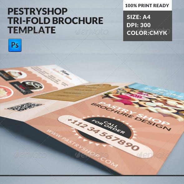 Pastry Cake Shop Cafe Bakery Tri-Fold Borchure