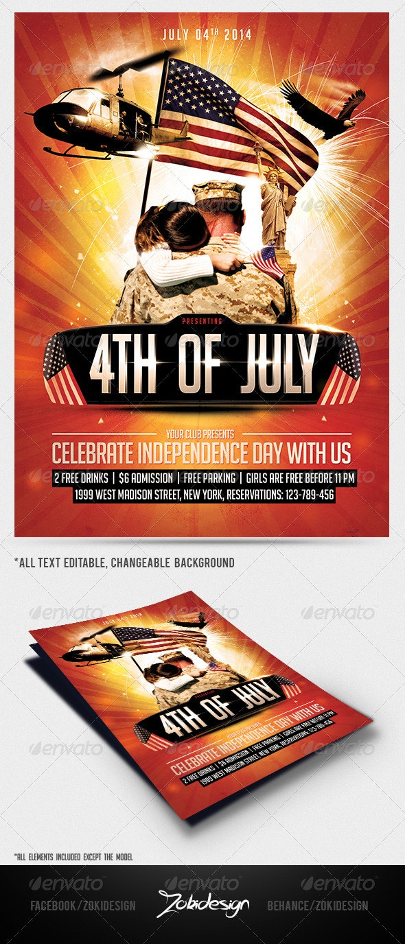 4th Of July Flyer Template  - Print Templates