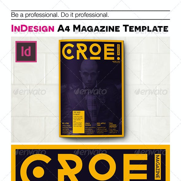 InDesign A4 magazine template