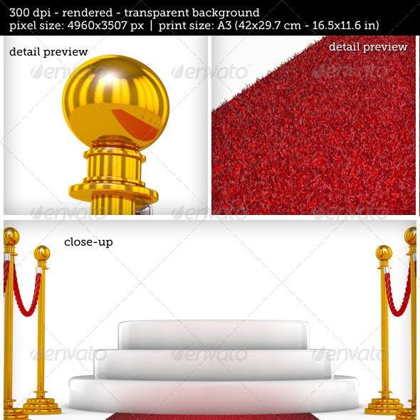 Winner Podium with Red Carpet