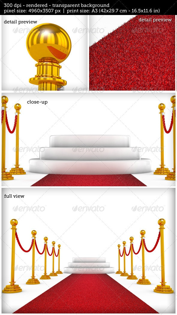 Winner Podium with Red Carpet - 3D Backgrounds