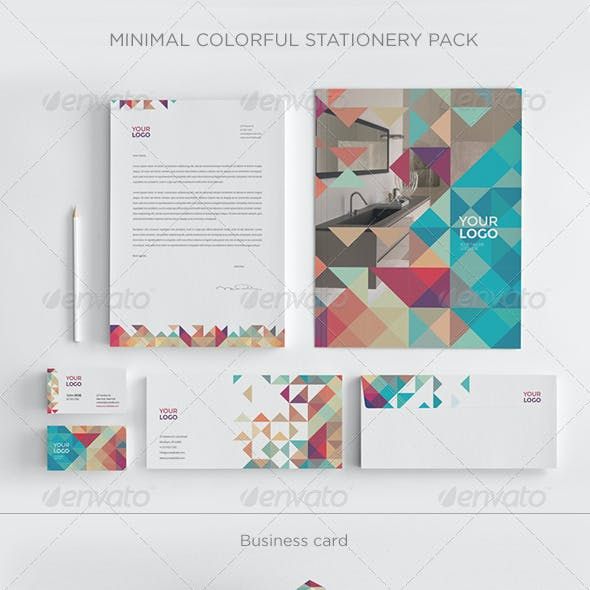 Minimal Colorful Stationery