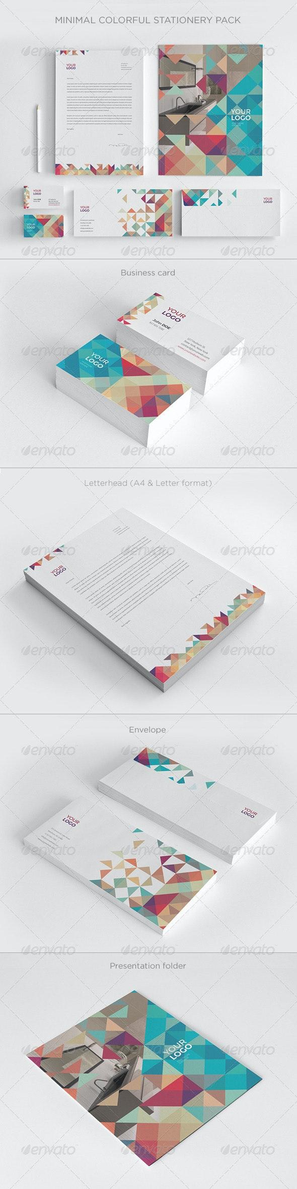 Minimal Colorful Stationery - Stationery Print Templates