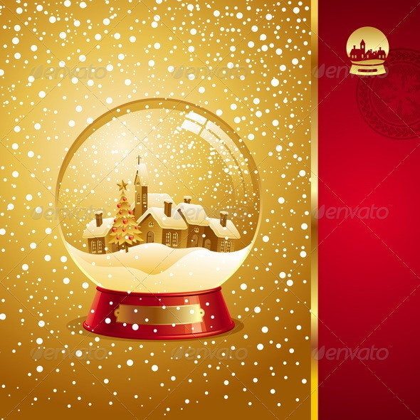 Christmas Design With Snow globe - Christmas Seasons/Holidays