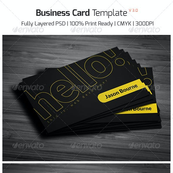Business Card Template v - 3.0