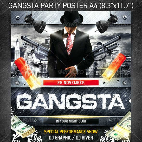 Gangsta Party Poster