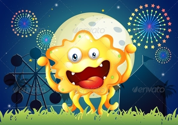 An Orange Monster at the Carnival - Monsters Characters