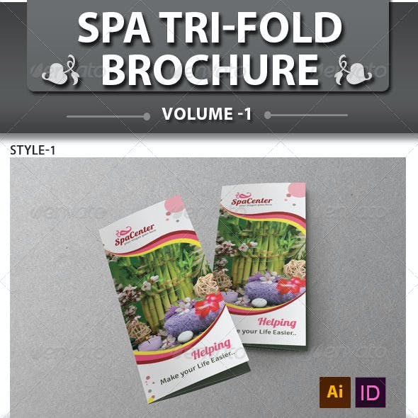 Spa & Beauty Saloon Tri-fold Brochure | Volume 14