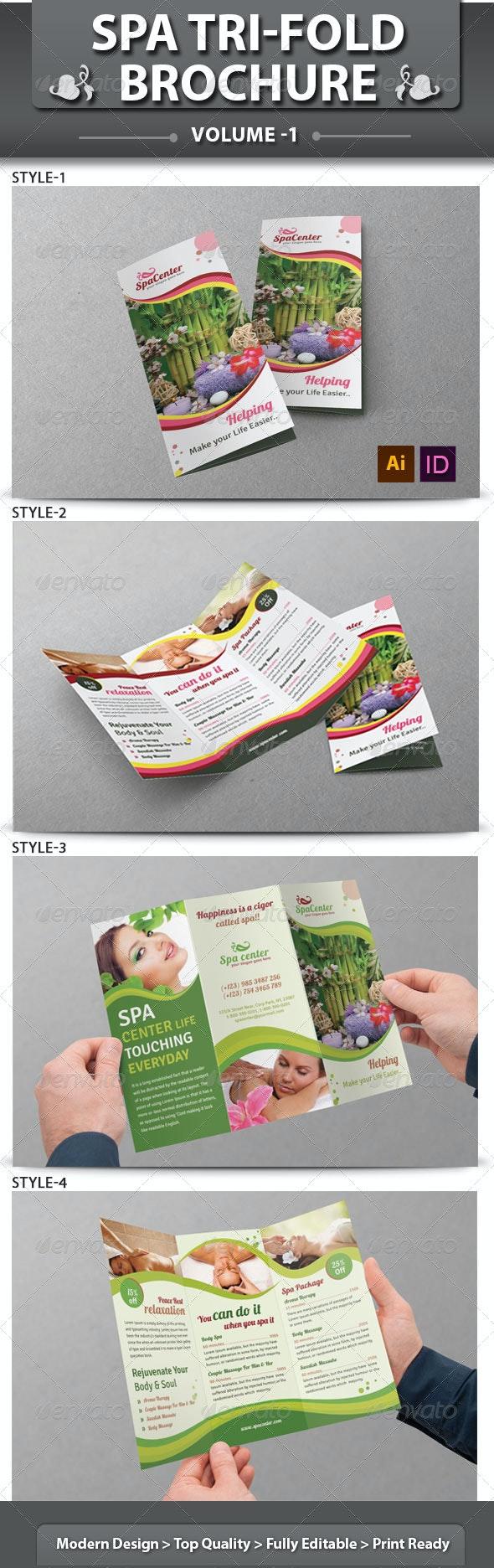 Spa & Beauty Saloon Tri-fold Brochure   Volume 14 - Corporate Brochures