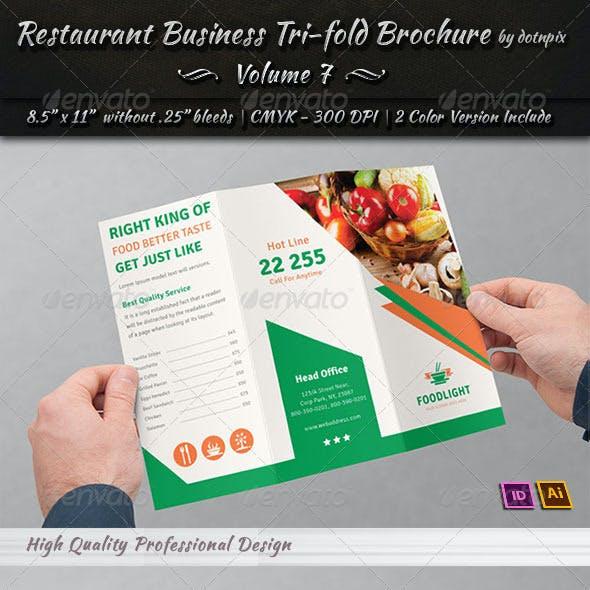 Restaurant Business Tri-Fold Brochure | Volume 7