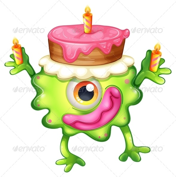 A Birthday of a Green Monster - Monsters Characters