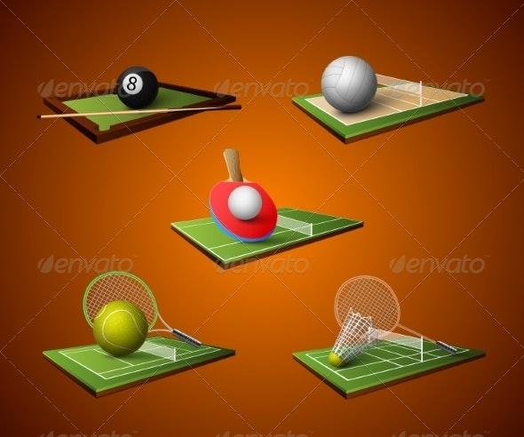 Sport Emblem Icons Set - Objects Icons