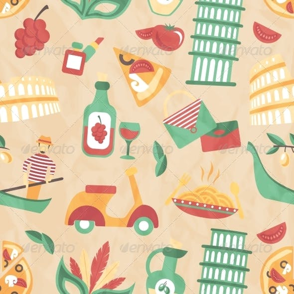 Italy Seamless Pattern