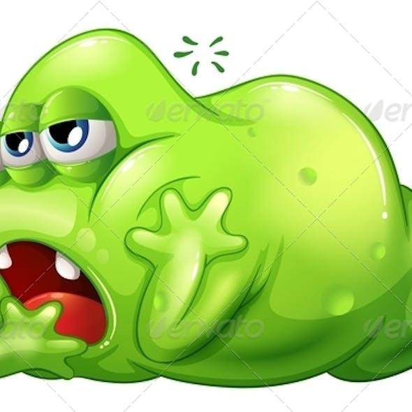 Greenslime Monster in Boredom