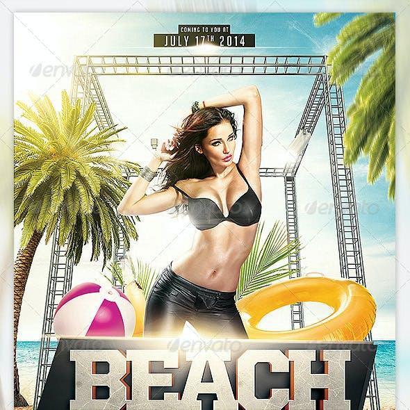Summer Beach Madness Flyer Template