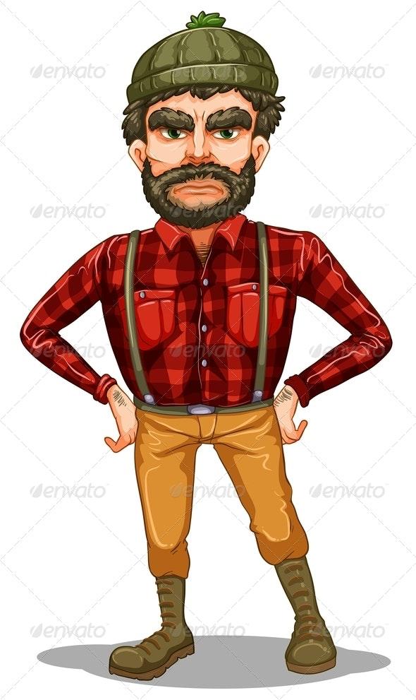 Standing Lumberjack  - People Characters