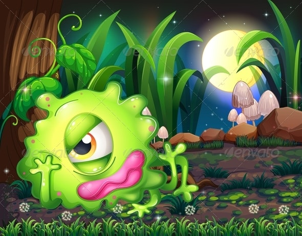 Monster Resting in the Forest - Monsters Characters