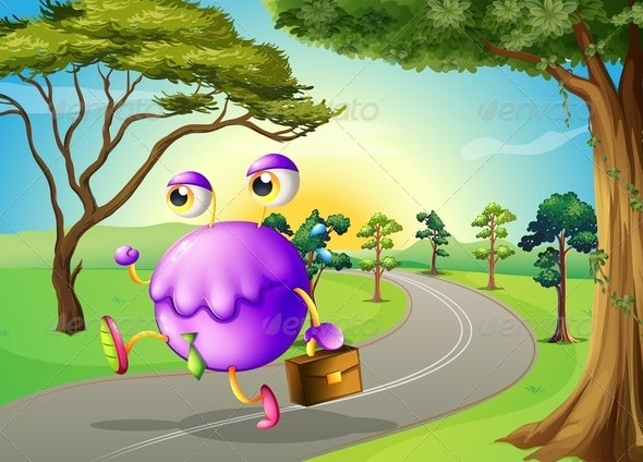 Monster on Path with Bag - Monsters Characters