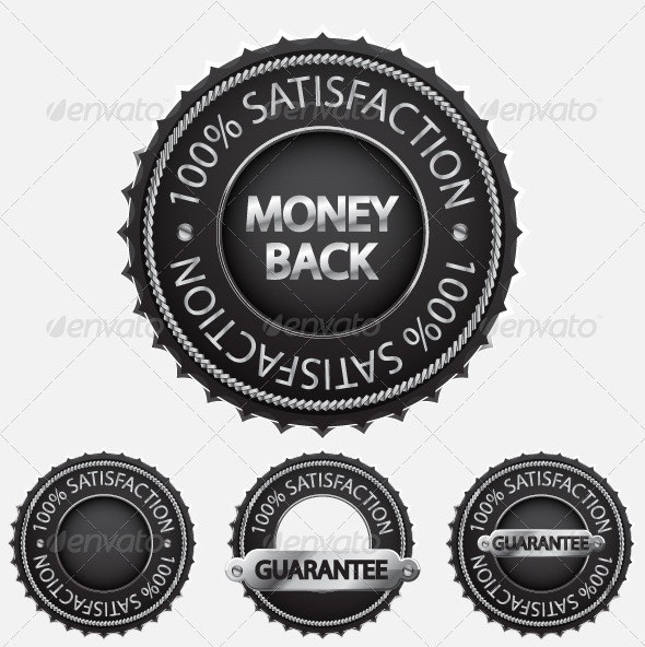 Satisfaction Guaranteed Badge Set - Services Commercial / Shopping