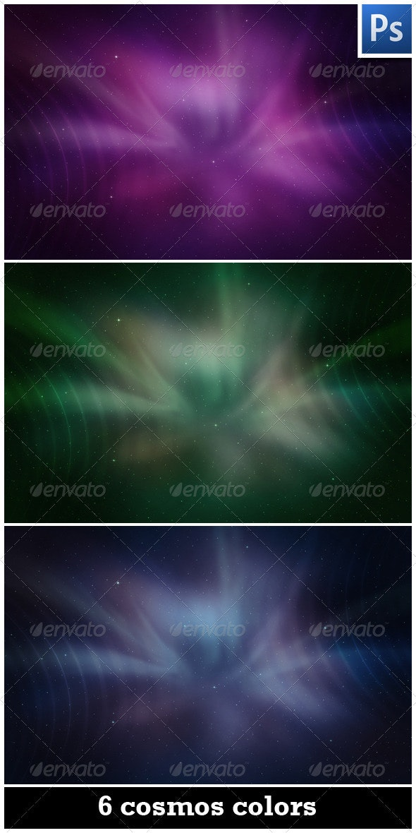 6 Cosmos Backgrounds - Backgrounds Graphics