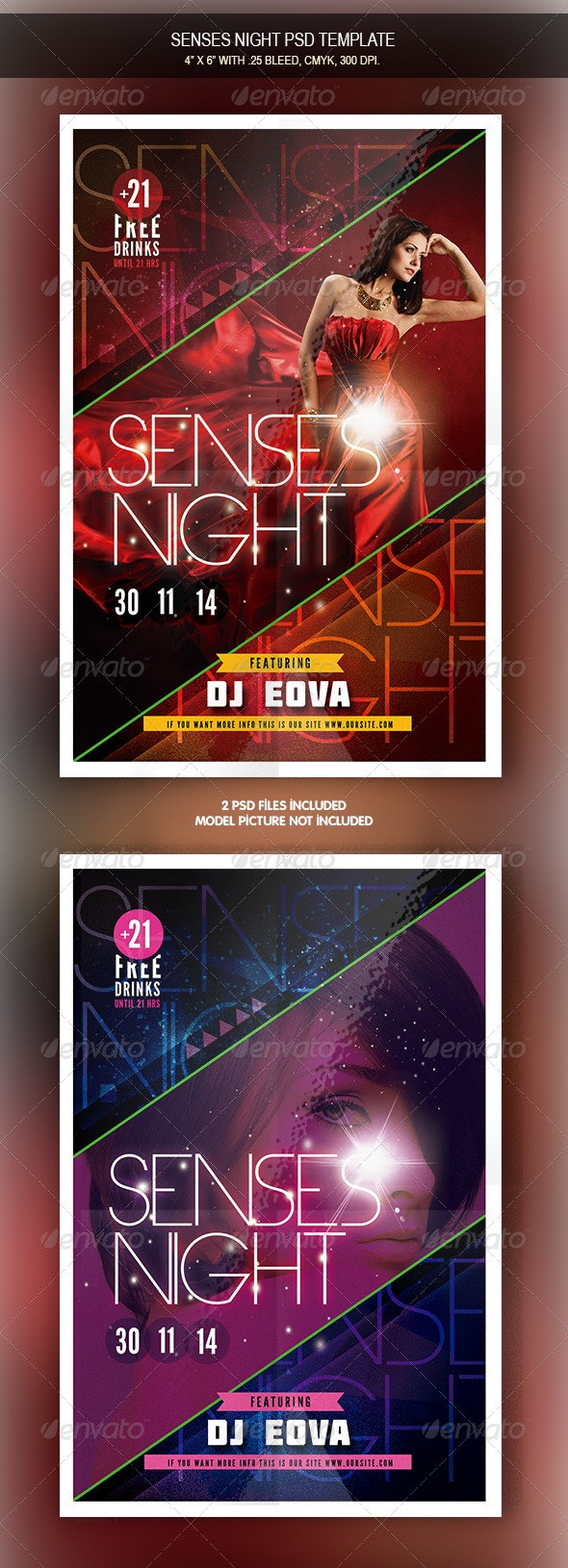 Sense Night Flyer - Clubs & Parties Events