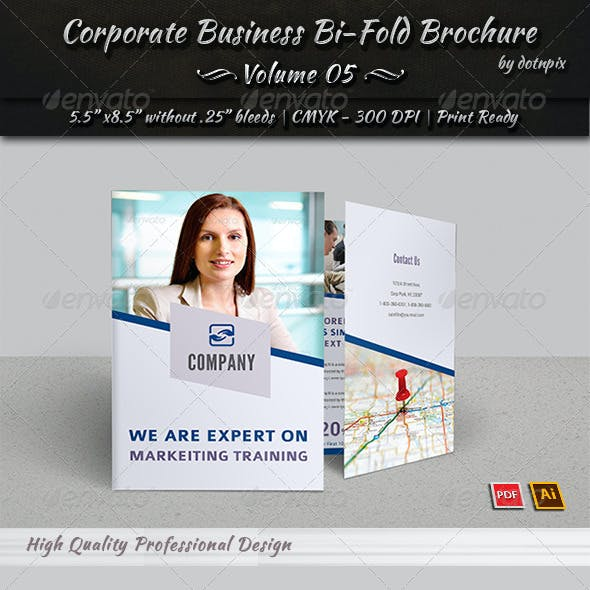 Corporate Business Bi-Fold Brochure | Volume 5