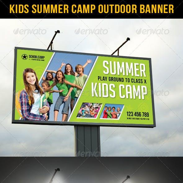 Kids Summer Camp Outdoor Banner