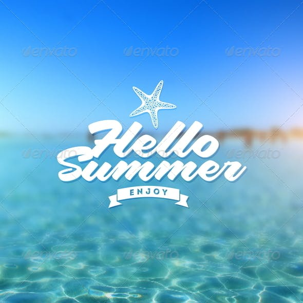 Tropical Sea Background with Type Design
